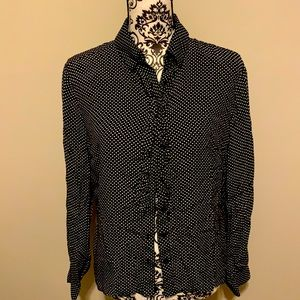 George Womans Long Sleeve Blouse Size Large